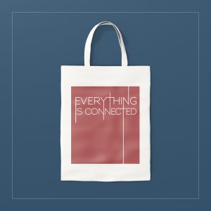 Everything is connected tote bag