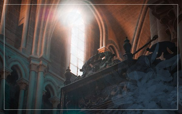 sunlight through church window