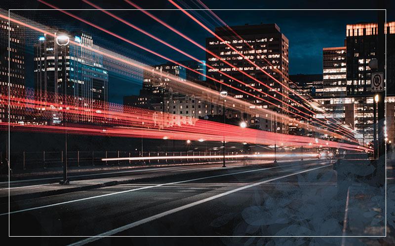 Traffic blur, night photography