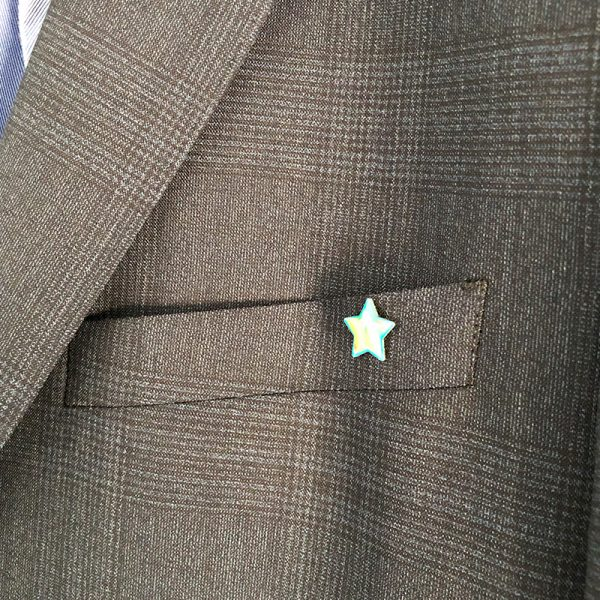 Caroline's Rainbow Foundation pin badge