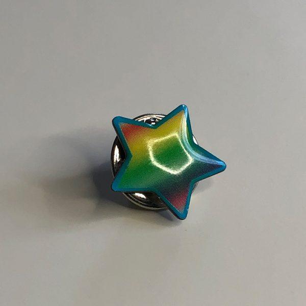 Caroline's Rainbow Foundation star pin badge