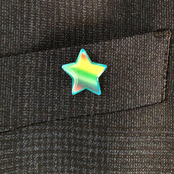 CRF Rainbow Star pin badge