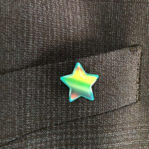 CRF star pin badge