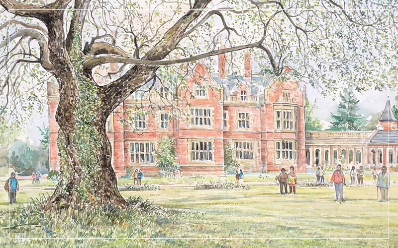 Arthur Findlay College art by Alan Stuttle